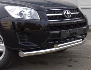 Toyota RAV 4 2009 - (обычная база) защита переднего бампера d 76/42 TRZ-000149